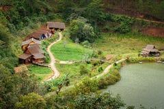 Village de tribal de LAN de Cu Images libres de droits