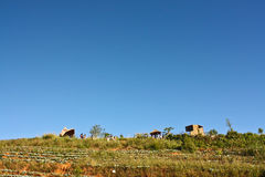 Village de tribu de colline photographie stock libre de droits