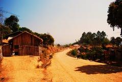 Village de tribu de colline photographie stock