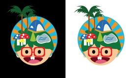 Village de vacances de visage de sourire illustration libre de droits