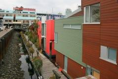 Village de Vancouver - mer images libres de droits