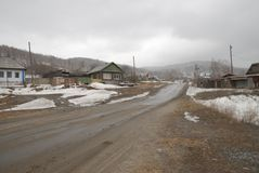 Village de Vishnevogorsk photo stock