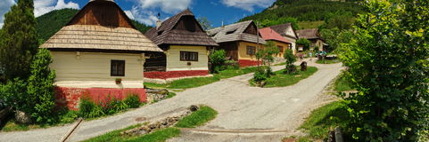 Village de Vlkolinec, Slovaquie (l'UNESCO) Photo stock