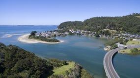 Village de Waiwera, Nouvelle-Zélande Images stock