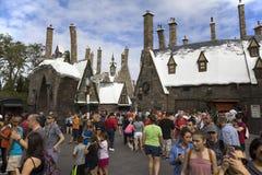 Village de Wizarding de Hogsmeade à l'île de l'universel d'aventure Photos stock