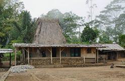 Village de Wogo, île de Flores Photos libres de droits