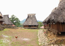 Village de Wologai Traditonal, Ende Photographie stock