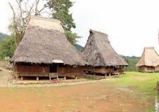 Village de Wologai Traditonal, Ende Images stock