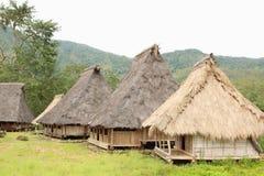 Village de Wologai Traditonal, Ende Photographie stock libre de droits