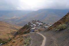 Village de Xinaliq en Azerbaïdjan photos libres de droits