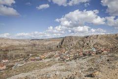 Village de Yaprakhisar dans Cappadocia Photo libre de droits