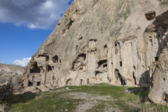 Village de Yaprakhisar dans Cappadocia Photographie stock libre de droits