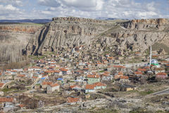 Village de Yaprakhisar dans Cappadocia Photographie stock