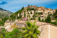 Village Deia on the hill Stock Image