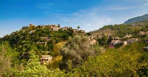 Village Deia in the mountains Stock Photography