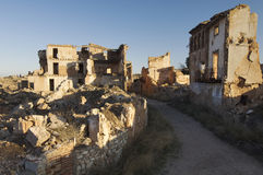 Village demolished. Belchite village destroyed in a bombing during the Spanish Civil War Royalty Free Stock Photography