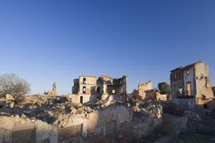 Village demolished Belchite Stock Images