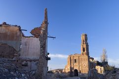 Village demolished Belchite Royalty Free Stock Images