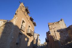 Village demolished Belchite Royalty Free Stock Photo