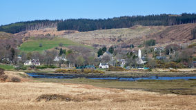 Village of Dervaig, Isle of Mull Royalty Free Stock Photos