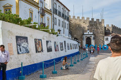 Village des obidos Portugal Photo stock