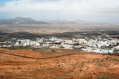 Village in a desert Stock Photography
