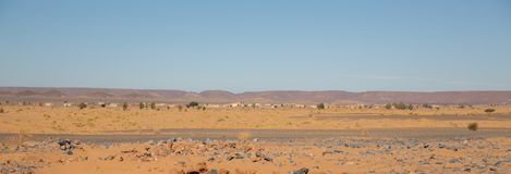 Village in the desert Royalty Free Stock Photo