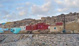 The village in desert area Stock Photo