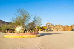 The village in desert Royalty Free Stock Photo