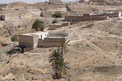 Village on desert Royalty Free Stock Photos