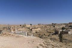 Village on desert Royalty Free Stock Photo