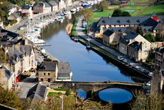 The village of Dinan. Tourism medieval in Dinan, France Stock Photos