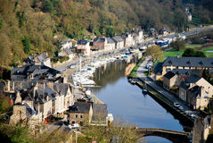 The village of Dinan in France. Tourism medieval in Dinan, France Royalty Free Stock Photo