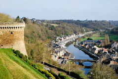 The village of Dinan inf France. Tourism medieval in Dinan, France Stock Photos