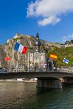 Village Dinant in Belgium Stock Photography