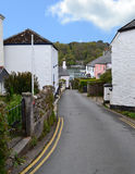 Village of Dittisham UK leading down to River Dart. Dittisham is a charming village located on the West bank of the River Dart approximately half way between Royalty Free Stock Image
