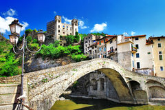 Village Dolceaqua (Liguria) Royalty Free Stock Photography