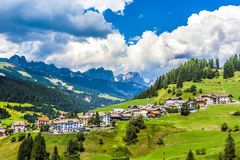 Village in the dolomites Royalty Free Stock Photos