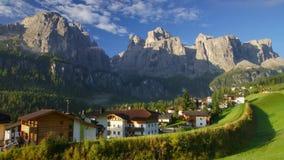 Village in Dolomites stock video