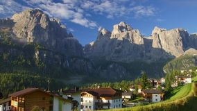 Village in Dolomites stock footage
