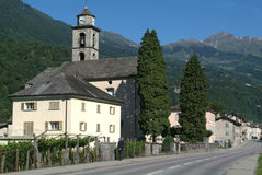 The village of Dongio on Blenio valley Stock Image