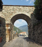 Village of Donnas eastern gate Royalty Free Stock Photos