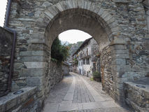 Village of Donnas eastern gate Royalty Free Stock Image