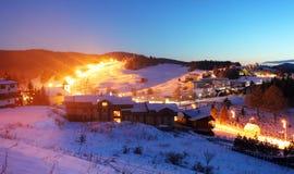 Village Donovaly at night - Slovakia ski resort Royalty Free Stock Images