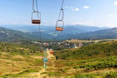 Village Dragobrat. Carpathian mountains, Ukraine stock photos