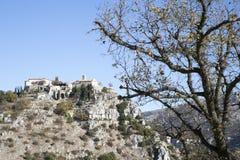 Village du 11ème siècle de Gourdon Image stock