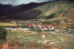 Village du Bhutan Images libres de droits