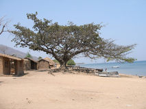 village du Malawi Images libres de droits