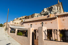 Village with dwelling  houses into rocks Royalty Free Stock Photos