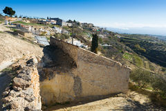 Village with dwellings houses into rock.  Cortes de Baza, Andalu Stock Image